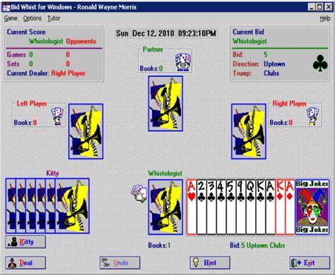 bid to win software court whist scoresheet software german whist by
