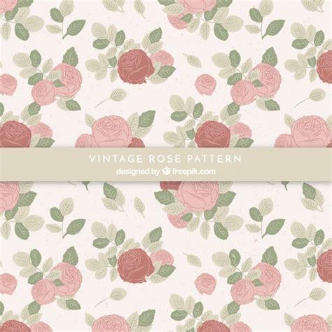 pattern vintage freepik pattern of vintage hand drawn roses vector free download