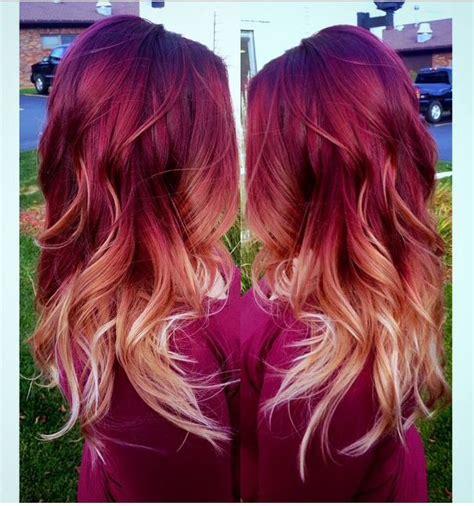 Strawberry Ombr 233 Hair Color My Hair Balayage And Balayage Best 25 Maroon Hair Ideas On Cherry Hair Maroon Hair Dye And Burgundy Hair