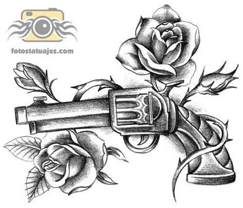 imagenes de calaveras y armas plantilla tatuaje pistola fotos de tatuajes tattoos