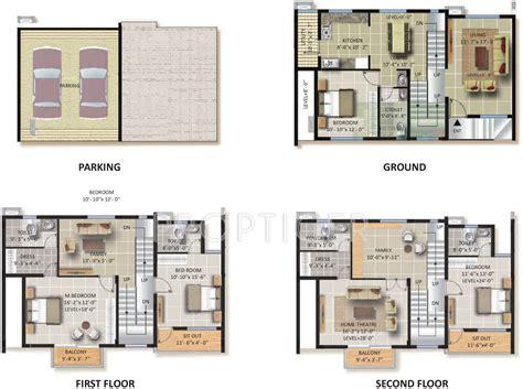 regency park floor plan 3420 sq ft 4 bhk 4t villa for sale in astro green park