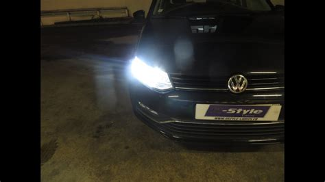h7 len vw polo kit h7 led vision vw polo 5 phares full led youtube
