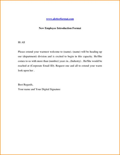 new employee introduction letter to clients how to write