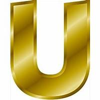 Free Gold Letter U Clipart  Graphics Images