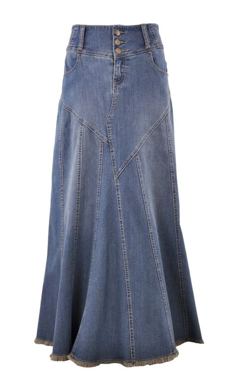 fantastic flared jean skirt re 0543 style j