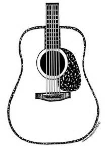Acoustic Guitar Outline Drawing by Acoustic Guitar Drawing Page 7 Images Clipart Best Clipart Best
