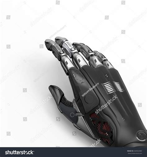 layout gloves robot piece of hand glove on white background design