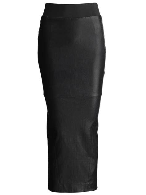 acacia leather pencil skirt in black muubaa from muubaa uk