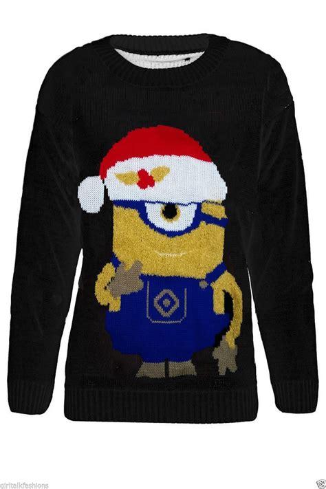 minion jumper knitting pattern kinder jungen m 196 dchen dave minion weihnachts pullover 5 12