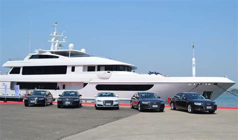 audi a8 launch audi a8 launch event horizon yacht europe