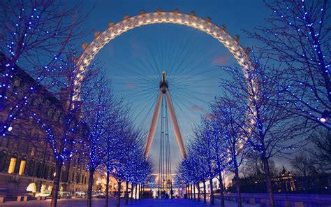wallpaper christmas london trees london buildings london eye ferris wheels united