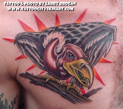 vulture tattoo vulture by larry brogan tattoonow
