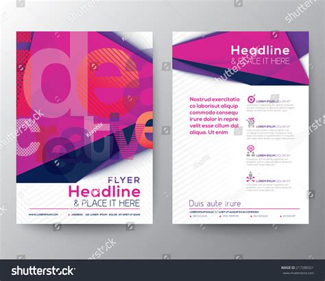 a4 brochure layout design abstract triangle brochure flyer design layout template in