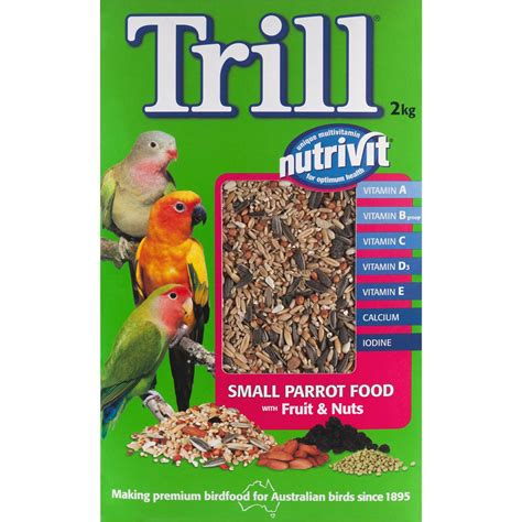 trill bird seed trill bird food small parrot fruit nut 2kg woolworths