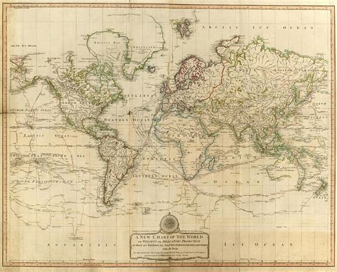 vintage map   world  drawing