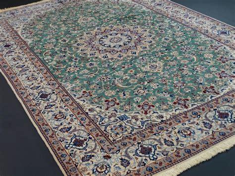 tappeti persiani in seta nain 308 x 204 cm esclusivo tappeto persiano verde con