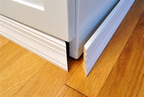 Kitchen Cabinet Base Molding by Adding Molding To Cabinets To Make Them Look Built In