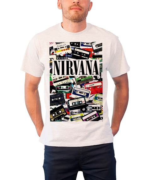 T Shirt Nirvana Logo nirvana t shirt nevermind band logo kurt cobain in utero