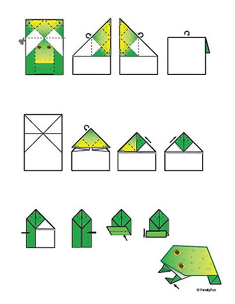 Origami Frog Printable - origami how to make an origami frog