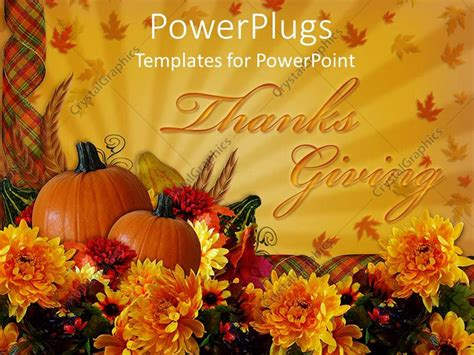 Powerpoint Template The Celebration Of Thanks Giving With Two Pumpkins 29321 Thanksgiving Powerpoint Templates