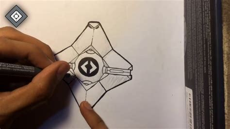 How To Draw The Ghost From Destiny destiny the taken king ghost drawing timelapse