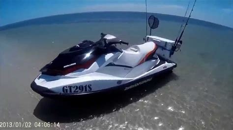 sea doo boat with detachable jet ski seadoo gti130 jetski fishing youtube