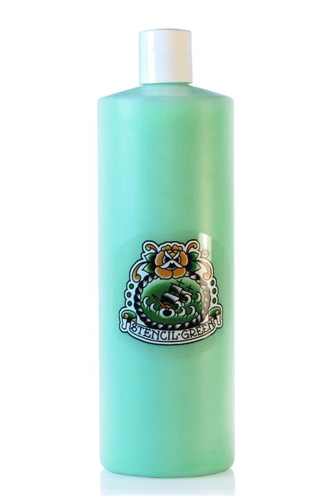 stencil green 8oz saltwater tattoo supply