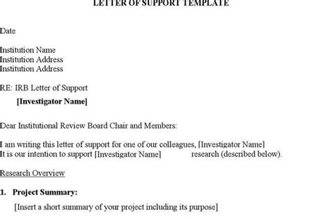 Institutional Support Letter Grant Letter Template Free Premium Templates Forms Sles For Jpeg Png Pdf Word