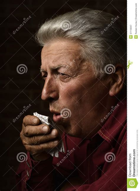 sick man stock image image  senior elder older