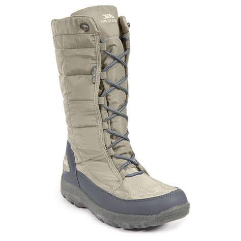 trespass subedge womens lace up winter snow boots thermal
