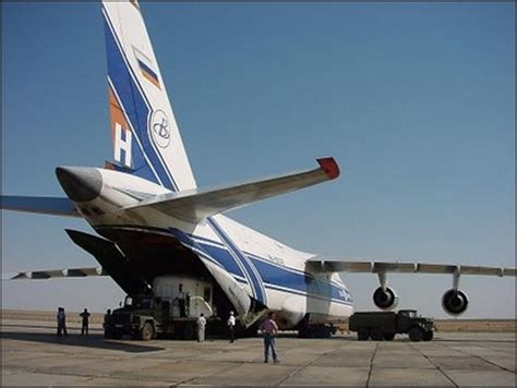 esa science technology unloading the antonov cargo plane at baikonour
