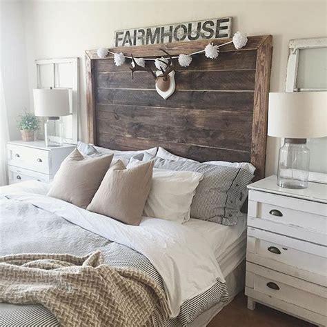 rustic farmhouse bedroom rustic farmhouse style master bedroom ideas 43