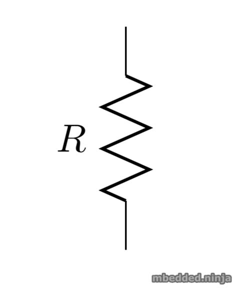 symbol for resistor in series resistors mbedded