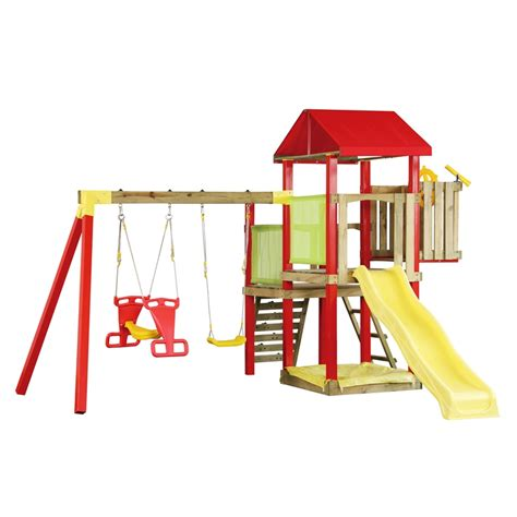 swing sets bunnings swing slide climb camelot multi play playground bunnings