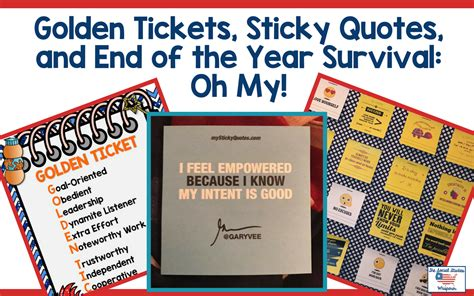 The Golden Ticket Andrew Gn Pulls Out The Showstoppers by Golden Tickets Sticky Quotes And End Of The Year
