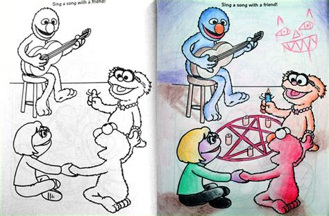 messed up coloring book pages creepiest things ever found in kids drawings 4 9 are