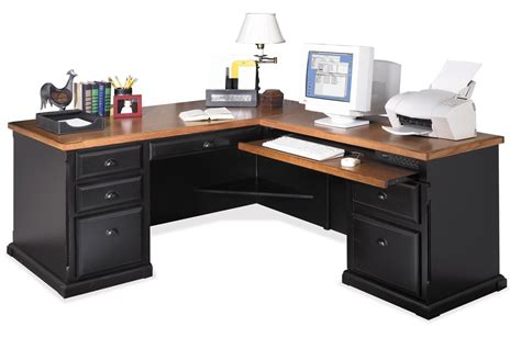 Modern L Shaped Desk by Martin Southampton L Shape Desk In Onyx