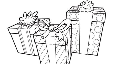 birthday gift coloring page presents grandparents com