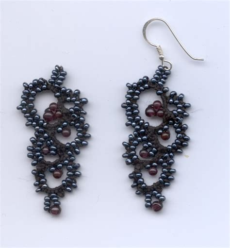 beaded earrings patterns free seed bead crafts pattern