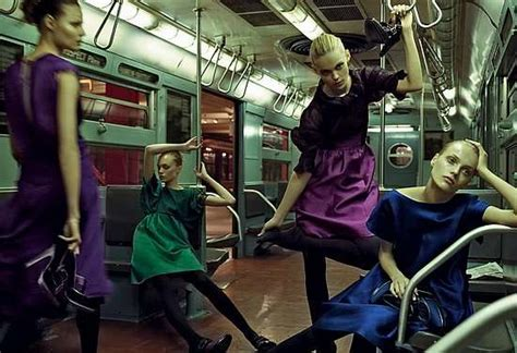 Models Booked For Fall 2008 Ad Caigns by Subway Cart Fashion Shoots Alberta Ferretti Fall Caign