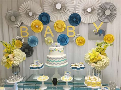 Elephant Baby Shower Decorations by Glam Elephant Baby Shower Baby Shower Ideas Themes