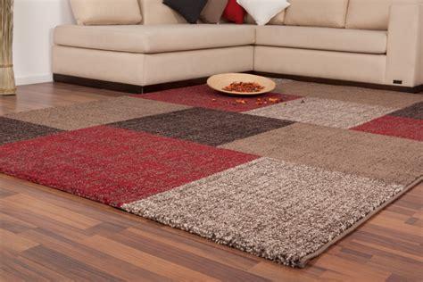 moderne wollteppiche modern teppiche flachflor karo design neu retro angebot
