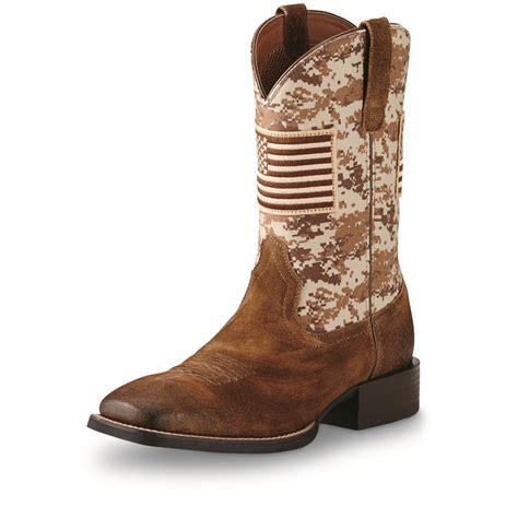s cowboy boots ariat s sport patriot cowboy boots 678105 cowboy
