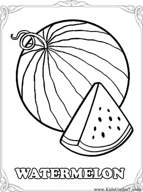 preschool watermelon coloring pages free w is for watermelon coloring pages