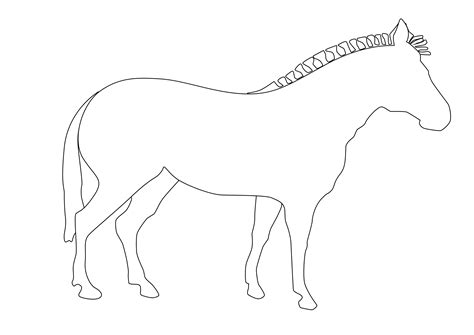 Zebra Outline Picture free coloring pages of outline of zebra