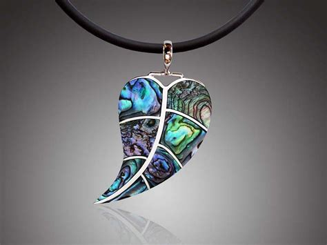 how to make abalone jewelry green abalone paua shell drop leaf sterling silver pendant