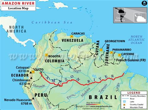 amazon map amazon river travel information map facts location