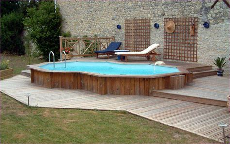 backyard pools above ground decks above ground swimming pools backyard design ideas