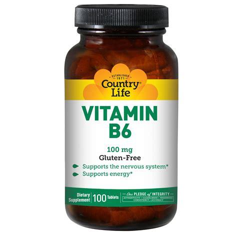 Vitamin B6 Country Vitamin B6 100 Mg 100 Tablets Iherb