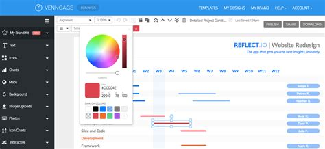 project management plan templates  venngage